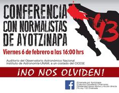 """""""Ensenada por Ayotzinapa""""; Conferencia con Normalistas, Febrero 6. FUE EL ESTADO: #YaMeCansé30 #MéxicoEstadoFallido #MéxicoViolento #Impunidad #Represión #DDHH #Ayotzinapa #Iguala #Guerrero #México #Normalistas #AyotzinapaSomosTodos #JusticiaParaAyotzinapa #JusticeForAyotzinapa #YoSoyAyotzinapa #AcciónGlobalPorAyotzinapa #Artículo39RenunciaEPN #EPN #20NovMx #CriminalizaciónDeLaProtesta #Censura #Corrupción #PRI…"""
