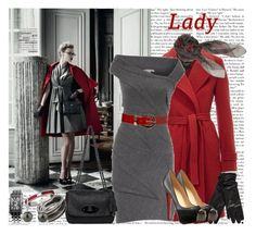 Lady in Red by dianelynn on Polyvore featuring polyvore, moda, style, Diane Von Furstenberg, Weekend Max Mara, Christian Louboutin, Mulberry, Red Herring, Juicy Couture, Swarovski, Alexander McQueen, Oasis, Stephen Collins, fashion and clothing