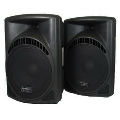 """1 Pair of New 1800 Watts Band DJ PA Karaoke Active Powered 15"""" Loud Speakers w/ Bluetooth PP1504CDB by Podium Pro Audio. $519.99. Specifications1 Brand New Pair of 2-Way Powered Speakers700 Watts RMS per pair & 1800 Watts Max per pairSensitivity is 107dB with 25-20,000 Hz Frequency ResponseWoofer is a Deluxe 15"""" 90oz DriverWide Dispersion Titanium Membrane TweeterThree Ports per Speaker900 Watts Max Output from each SpeakerClass D Amplifier per SpeakerXLR or 1/..."""