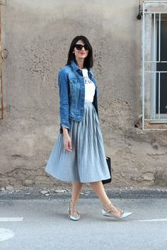 Ideas Dress Midi Casual Spring Outfits For 2019 Modest Outfits, Classy Outfits, Modest Fashion, Skirt Fashion, Dress Outfits, Casual Dresses, Casual Outfits, Fashion Dresses, Blue Skirt Outfits