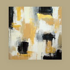 Art PaintingBlack and Gold Original Abstract Acrylic Painting