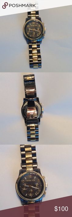Authentic Michael Kors Watch Authentic like new Michaels Kors Watch in two toned gun metal and gold colors.  In need of a new battery.  No extra links or box included.  Will ship same day. MICHAEL Michael Kors Accessories Watches