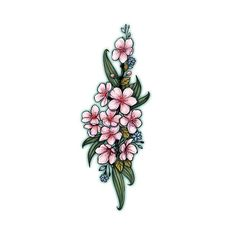 Delicate cherry blossom temporary tattoo looks amazingly feminine and soft! Size of the sheet : x (approx) Tattoo Set, Cover Up Tattoos, Arm Band Tattoo, Realistic Temporary Tattoos, Sketchy Tattoo, Hip Tattoos Women, Traditional Japanese Tattoos, Japanese Sleeve Tattoos, Blossom Tattoo