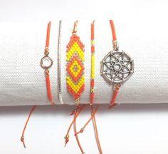 Bracelets boho assortis réglables par composition de 5