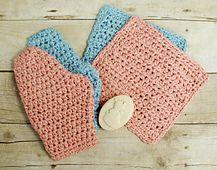 Ravelry: Baby Bath Mitt and Washcloth Set pattern by Kara Gunza