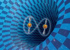 UNA LUPA SOBRE EL ESPACIO TIEMPO - Adivinanza: ¿qué tienen en común dos fotones –en la jerga de la mecánica cuántica– entrelazados y dos rincones del universo muy distantes entre sí pero conectados por un agujero de gusano? Respuesta: la fábrica del espacio-tiempo.