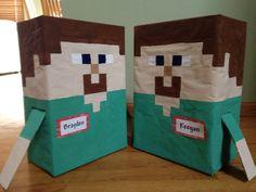 Minecraft valentines boxes
