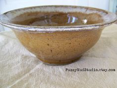 Handmade Serving Bowl Wheel Thrown Pottery Bowl Serving Bowl by Fuzzy Mud Studio