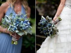 Blue Wedding Bouquets | PHOTO SOURCE • JOANNA TANO PHOTOGRAPHY