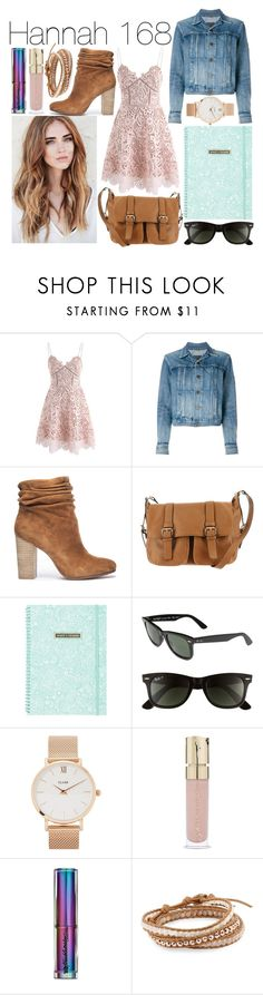 """""""Hannah - 168 Hours (Revisited)"""" by leonorgomes on Polyvore featuring Chicwish, Yves Saint Laurent, Chinese Laundry, MMS Design Studio, Ray-Ban, CLUSE, Smith & Cult, Urban Decay and Chan Luu"""