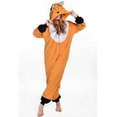 2016 Spring Winter Orange Kigu Fox Onesie Fleece Pyjamas Soft Cartoon Costume Onesies Pajamas Womens Pijamas Disfraz Animal set