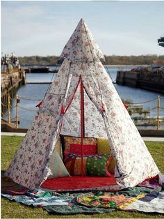 I recently spotted this Cath Kidston teepee for Free People and instantly fell in love. There aren't a lot of these big enough for adults (you can make one yourself) but they're great alternatives to the boring beach umbrella. Smaller ones are fun for make believe/private time in a kid's room or backyard. Take a look and maybe add this traditional tent to your summer play.