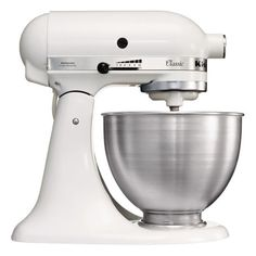 Kitchenaid K45SS Classic Mixer featuring polyvore, home, kitchen & dining, small appliances, kitchen, cozinha, decor, kitchen appliances, kitchen aid mixer, kitchenaid mixer, kitchenaid small appliances, kitchen aid small appliances and kitchenaid