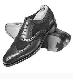 Handmade+Men's+Genuine+Leather+&+Suede+Wingtip+Formal+shoes,+Men+Black+Dress+Brogue+Shoes Material+Genuine+Suede+&+Leather + Inner+Soft+Leather Color+Black Style+Wing+Tip+Shoes Sole+Leather Gender+Male Heel+Leather IMPORTANT+NOT. Black Brogues, Leather Brogues, Black Leather Shoes, Soft Leather, Suede Leather, Leather Men, Black Shoes, Lace Up Shoes, Dress Shoes