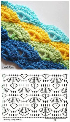 Shell Stitch - Free Crochet Diagram - Pattern In Polish - (letesknits)
