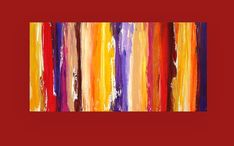 Art Acrylic Abstract Painting on Canvas Titled by OraBirenbaumArt, $385.00