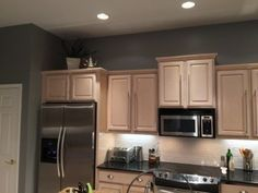 Great Pickled Oak Cabinets Has Me In A Pickle Over Wall Color!