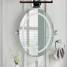 Oval Wall Mounted Led Lighted Mirror For Bathroom Lamp Wall Mounted Mirror With . Oval Wall Mounted Led Lighted Mirror For Bathroom Lamp Wall Mounted Mirror With Touch Switch Antifo Led Mirror, Wall Mounted Mirror, Mirror With Lights, Lighted Mirror, Rectangular Bathroom Mirror, Modern Tech, Bathroom Fixtures, Amazing Bathrooms, House Colors