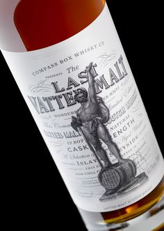 The Last Vatted Malt whisky by Compass Box. Packaging design by Stranger & Stranger, featured on The Dieline
