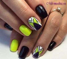 Elegant Rhinestones Coffin Nails Designs - New Ideas Best Nail Art Designs, Gel Nail Designs, Fabulous Nails, Perfect Nails, Neon Nails, My Nails, Neon Pedicure, Summer Nails 2018, Spring Nails