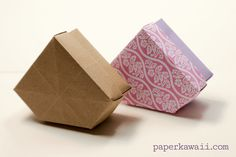 Origami Gem Box Lid Tutorial Diagram This Is In The Shape Of A Or Crystal So Perfect For Gifts Jewellery
