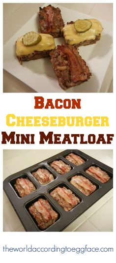 Bacon Cheeseburger Mini Meatloaves Meatloaf - Low Carb and keto  High Protein Weight Loss Surgery Friendly Recipes