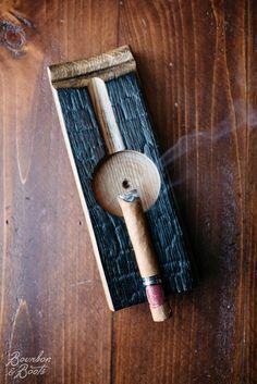 Bourbon Barrel Cigar Ashtray Adam