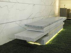 Panca in marmo senza schienale SLIDE 01 by FRANCHI UMBERTO MARMI design michele cazzani, Archizero