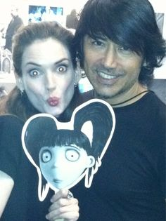 Philip Carreon styling Winona Ryder using Cabella Hair products