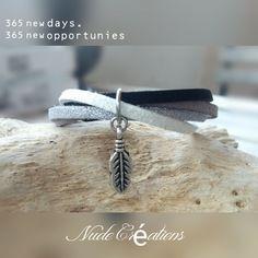 Bracelet suédine gris / noir / blanc Nude Créations New Day, Creations, Etsy, Boutique, Bracelets, Silver, Jewelry, Grey, Fantasy