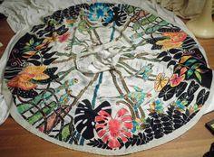 Vintage 1950s Mexican handpainted full circle skirt, Faldas Kent
