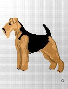 WELSH AIREDALE TERRIER CROCHET PATTERN GRAPH AFGHAN