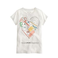 cool career t-shirts for girls: Teacher tee at J. Crew supporting Teach for America