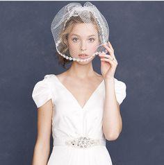 Eyelash Lace Veil | 47 Gorgeous Wedding Headpiece Ideas