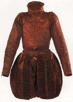 1562: Doublet and Trunkhose worn by Don Garzia de Medici, Italian. Palazo Pitti (Florence) Collection.