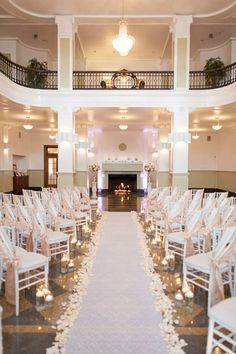 White Indoor Wedding Ceremony 41
