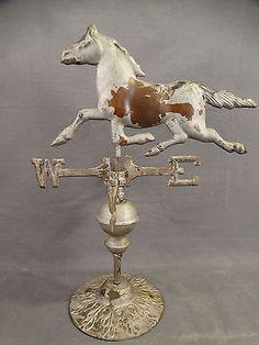 dfe76ee70d8 Antique-SALESMAN-SAMPLE-Figural-COPPER-Directional-HORSE-Old -Barn-WEATHERVANE
