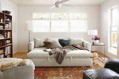 Oxford Pop-Up Platform Sleeper Sofa - Oxford Sleeper Sofa and Rowan Desk Room - Living - Room & Board