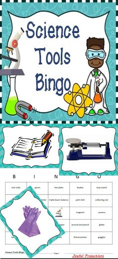 A great way to review all those tools we're going to use in the science lab!!  35 Bingo Cards included!