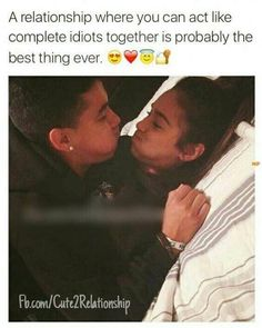 A relationship where you can act like complete idiots together is probably the best thing ever Eine Beziehung, in der Couple Goals Relationships, Relationship Goals Pictures, Couple Relationship, Memes About Relationships, Distance Relationships, Healthy Relationships, Parejas Goals Tumblr, Win My Heart, Cute Couple Pictures