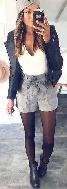 Preppy Outfit Ideas To Wear This Winter La meufe a la mode Adrette Outfits, Preppy Outfits, Short Outfits, Spring Outfits, Winter Outfits, Fashion Outfits, Dress Winter, Fashion Shorts, Outfit Summer