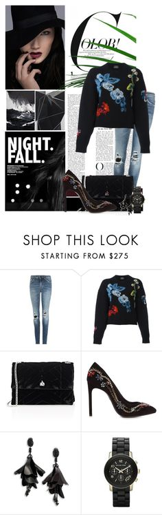 """""""Floral"""" by simplepublicity ❤ liked on Polyvore featuring Yves Saint Laurent, Anthony Vaccarello, Lanvin, Oscar de la Renta and Michael Kors"""