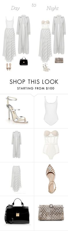 """""""Untitled #317"""" by duciaxoxo ❤ liked on Polyvore featuring Sophia Webster, Wolford, Sally Lapointe, Fleur du Mal, J.Crew, Marc Jacobs, From St Xavier, DayToNight and stripes"""
