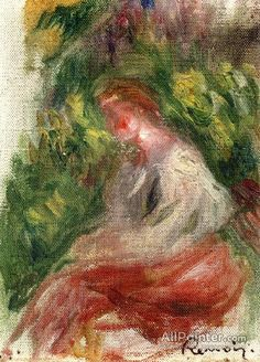 Pierre Auguste Renoir Young Woman, Seated oil painting reproductions for sale