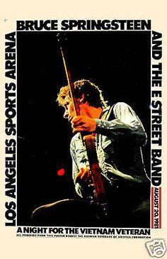 Bruce Springsteen Concert Poster https://www.facebook.com/FromTheWaybackMachine