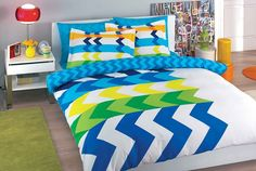 Marco Mavi by Taç Tekstil Comforters, Blanket, Bed, Furniture, Home Decor, Creature Comforts, Quilts, Decoration Home, Room Decor