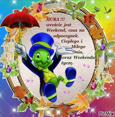 miłego weekendu Smurfs, Origami, Disney, Funny, Pictures, Fictional Characters, Stickers, Poland, Organizations