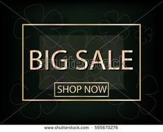 Big Sale Background with flowers silhouette for your design. Vector Illustration. Template for Banner, Poster, Brochure, Voucher discount.