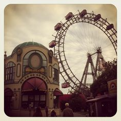 Wiener Prater: most famous park in Vienna, has iconic ferris wheel Wiener Prater, Places Around The World, Around The Worlds, Holy Roman Empire, Amusement Parks, Emperor, Four Square, Ferris Wheel, Austria