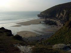Secret cove in Pembrokeshire